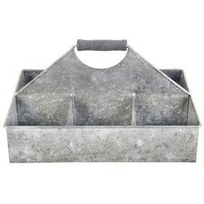 Old Zinc Square Basket