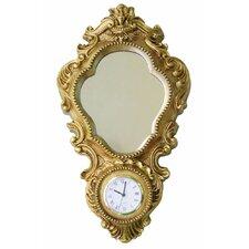 Vintage Eames Era Wall Clock with Mirror