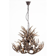 Antlers 9 Light Candle Chandelier