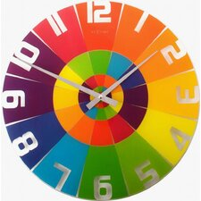 "16.9"" Rainbow Wall Clock"