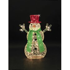 <strong>LB International</strong> Light Spun Acrylic Snowman