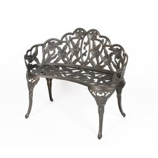 Cast Aluminum Rose Bench