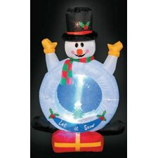 <strong>LB International</strong> Inflatable Snowman with Snow