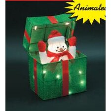 <strong>LB International</strong> Animated Snowman Gift Box