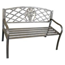 Rose Lattice Bench in Bronze