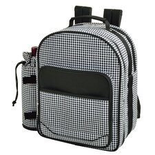Houndstooth Picnic Backpack Cooler for Two