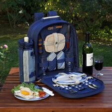 Aegean Picnic Backpack with Two Place Settings