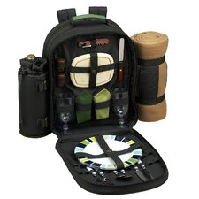 Eco Picnic Backpack with Blanket and Two Place Settings