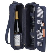 <strong>Picnic At Ascot</strong> Classic Sunset Depinot Wine Carrier for Two in Navy