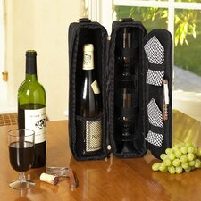 <strong>Picnic At Ascot</strong> Classic Sunset Depinot Wine Carrier for Two in Black