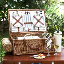 Dorset Basket for Four with Blanket in Santa Cruz