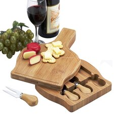 <strong>Picnic At Ascot</strong> Chianti Bottle Shape Cheese Board Set