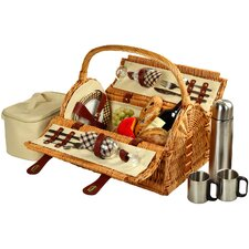<strong>Picnic At Ascot</strong> Sussex Picnic Basket with Coffee Flask for Two