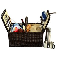 Surrey Picnic Basket with Coffee Flask for Two