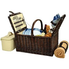 Buckingham Basket with Blanket for Four