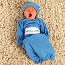 <strong>Baby Be Mine</strong> Handsome Baby Romper with Matching Hat