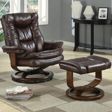 Scandia European Chair and Ottoman Set