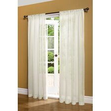 Weathershield Insulated Rod Pocket Sheer Curtain Single Panel