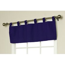 Weathermate Solid Cotton Tab Top Tailored Curtain Valance