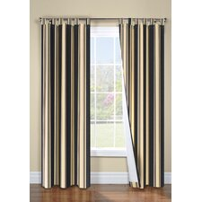 Weathermate Broad Stripe Cotton Tab Top Drape Pair