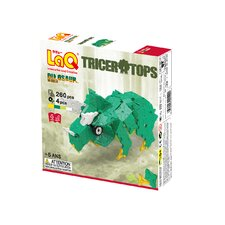 <strong>LaQ USA</strong> Dinosaur World 260 Piece Triceratops Puzzle