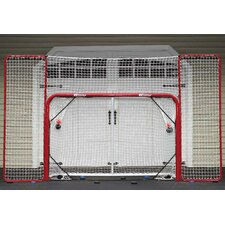 Folding Steel Hockey Goal with Backstop and Targets