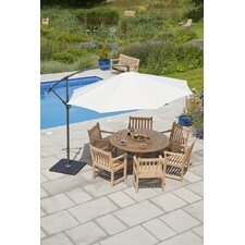 Roble 7 Piece Round Table Dining Set