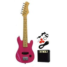 Kids Electric Guitar in Pink
