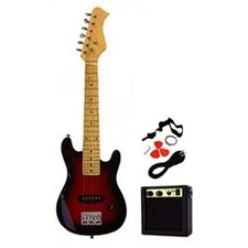 Kids Electric Guitar in Transparent Red