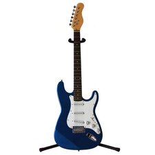 Electric Guitar with Gig Bag and Cable in Metallic Blue