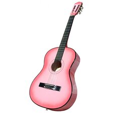 Acoustic Classical Guitar with Gig Bag and Accessories in Pink