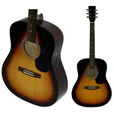 Acoustic Dreadnaught Guitar with Gig Bag in Sunburst