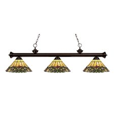 Riviera Bronze 3 Light Billiard Light
