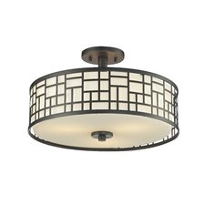 Elea 3 Light Semi Flush Mount