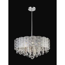 <strong>Z-Lite</strong> Adara 6 Light Crystal Chandelier in Chrome