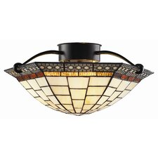 Prairie Garden 3 Light Semi Flush Mount