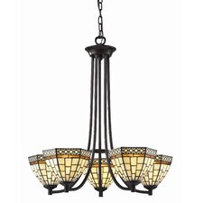 Prairie Garden 5 Light Chandelier in Chestnut Bronze