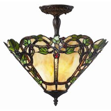 Vidonia 3 Light Semi Flush Mount
