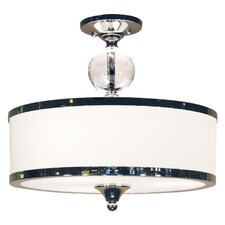 Cosmopolitan 3 Light Semi Flush Mount
