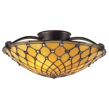 Chandelle 3 Light Semi Flush Mount