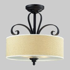 Charleston 3 Light Semi-Flush Mount