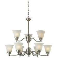 <strong>Z-Lite</strong> Athena 9 Light Chandelier