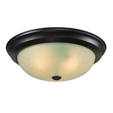<strong>Z-Lite</strong> Athena 3 Light Flush Mount