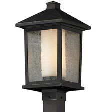<strong>Z-Lite</strong> Mesa 1 Light Outdoor Post Lantern Set