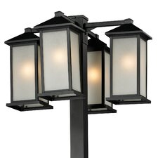 "<strong>Z-Lite</strong> Vienna 4 Light 99"" Outdoor Post Lantern Set"