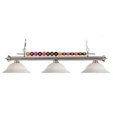 <strong>Z-Lite</strong> Shark 3 Light Billiard Light