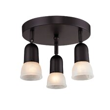 Pria 3 Light Semi-Flush Mount