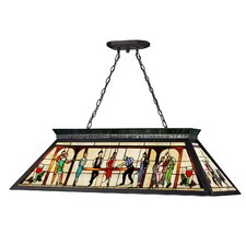 Tiffany 4 Light Billiard Light