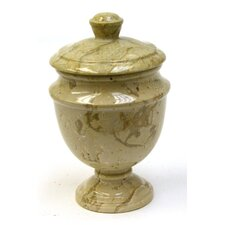 <strong>Nature Home Decor</strong> Sahara Beige Marble Canister
