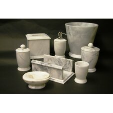 Series 300 in White Z Marble 7 Piece Bath Set